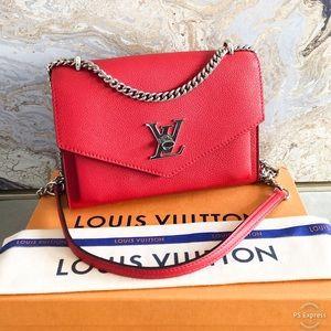 Louis Vuitton My Lockme BB Red Calfskin LeatherBag